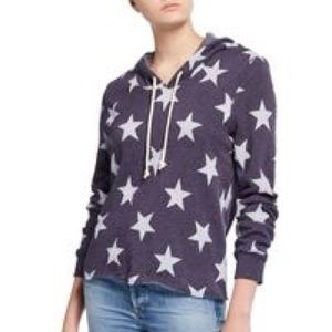 S141 Alternative cropped star hoodie